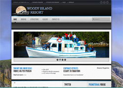 Thumbnail of Woody Island's new website